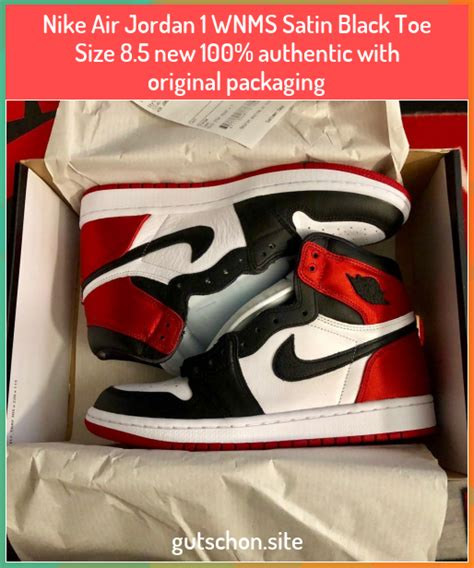 If you want get info about your order text to…» Nike Air Jordan 1 WNMS Satin Black Toe Size 8.5 new 100% ...