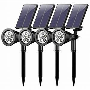 Spot Solaire Extérieur : 4 pack mpow 6 led lampe solaire ext rieur eclairage ~ Melissatoandfro.com Idées de Décoration