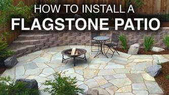 how to install a flagstone patio step by step my crafts