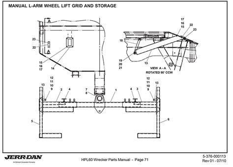 jerr  manual  arm wheel lift grid  storage