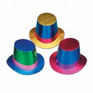 Foil Top Hats - Assorted Colour - Foilboard Hats - Hats