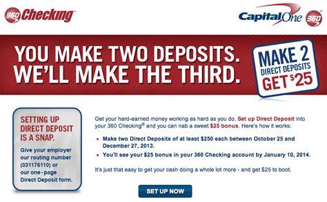 capital one 360 direct deposit