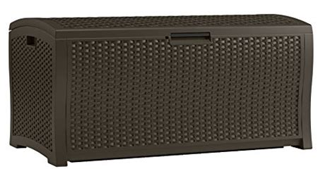 Suncast Resin Wicker Deck Box 122 Gallon by Suncast Dbw9935 Resin Rattan Deck Box 122 Gallon Deck