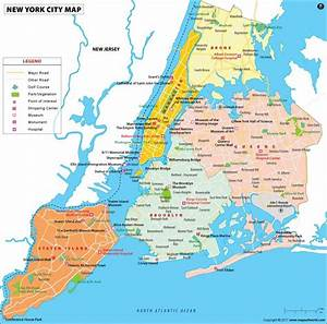 New York Boroughs Map