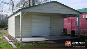 Metal Garage With Boxed Eave Roof 2039 X 2639 Shop Garages