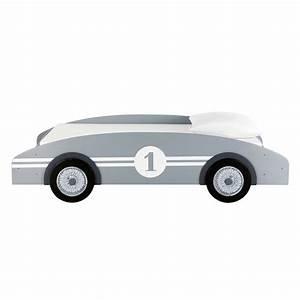 Voiture Enfant Vintage : lit voiture enfant 90 x 190 cm en bois gris circuit ~ Teatrodelosmanantiales.com Idées de Décoration