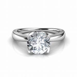 petal like diamond solitaire engagement ring With solitaire diamond wedding rings