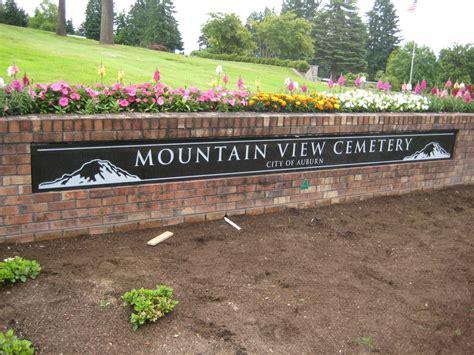mountain view cemetery granite sign in auburn wa