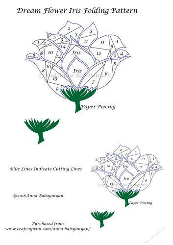 dream flower iris folding pattern iris folding pattern