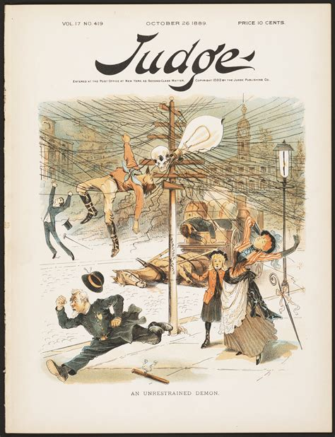 Anti Electricity Cartoon From 1889 Perfectly Depicts