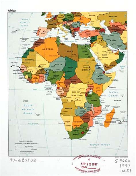 Afrika Staaten Karte