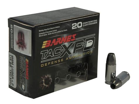 barnes tac xpd barnes tac xpd ammo 9mm luger p 115 grain tac xp hollow point