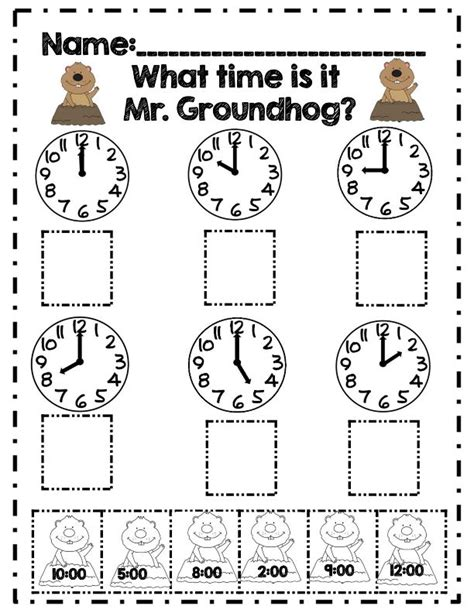 what time is it mr groundhog part of 20 page 1st grade