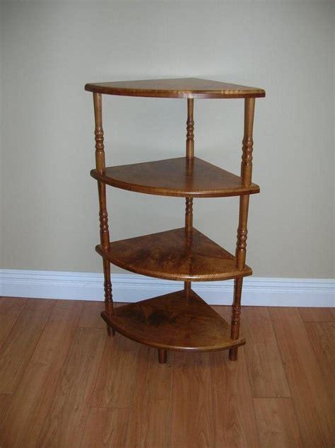 corner shelf wood wooden shelving unit plans plans free