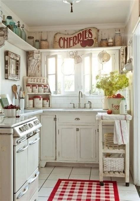 Cute Vintage Kitchen With Shelves  * For The Home