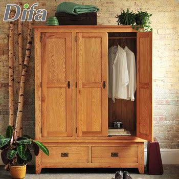3 Door Wardrobe Closet by Custom Wooden 3 Doors Wardrobe Closet Wooden Cupboard