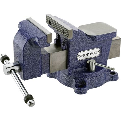 clamps vises shop fox   bench vise  swivel