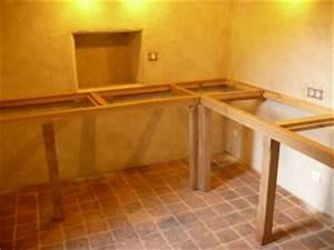 Installer Un Plan De Travail : comment poser un plan de travail de cuisine sans meuble design de cuisine ~ Melissatoandfro.com Idées de Décoration