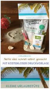 Kleine Geschenke Selber Machen : urlaub in der t te selber machen mit druckvorlage kleine ~ Lizthompson.info Haus und Dekorationen
