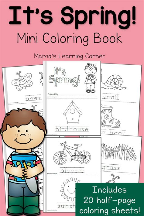 spring coloring pages mamas learning corner