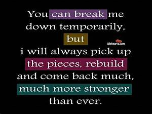 NEVER BACK DOWN | Quotes | Pinterest