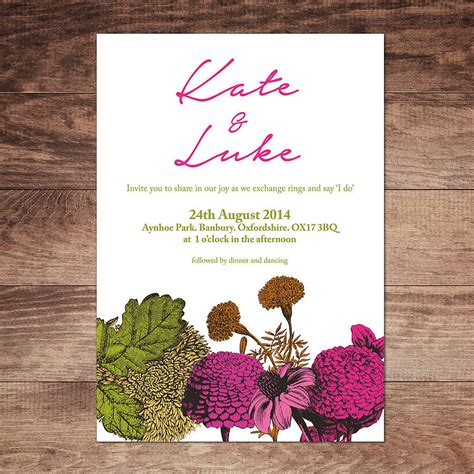 secret garden wedding invitations by russet and gray