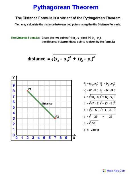 pythagorean theorem worksheets practicing pythagorean
