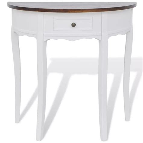 half circle console table with drawers vidaxl co uk white half round console table with drawer