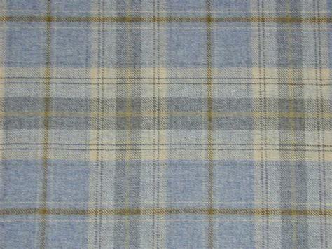 100 wool tartan plaid cornflower blue fabric curtain