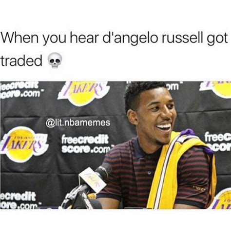 D Angelo Russell Memes - when you hear dangelo russell got traded om conocom scorecom redit oreco lit meme on sizzle