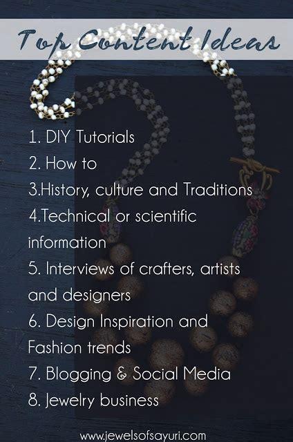 top content ideas  guest posts  design blogs jewels