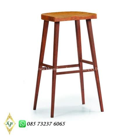 Kursi Bar Stool Informa kursi bar kayu modern simple khamila mebel