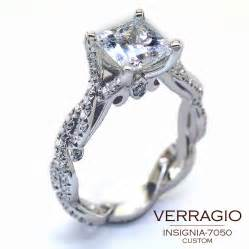 custom engagement ring introducing the custom designed insignia 7050 engagement ring with a princess cut center