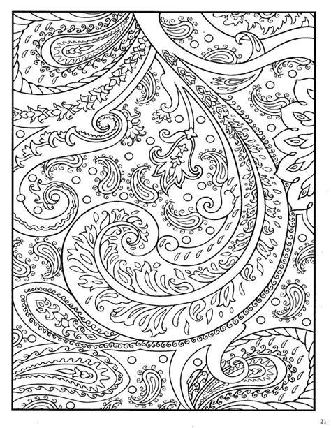dover paisley designs coloring book mandala coloring