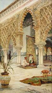 Oriental, Backyard, With, Moors, In, Conversation