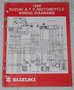 1988 Suzuki Motorcycle And Atv Electrical Wiring Diagrams Manual 88  U0026quot J U0026quot  Models