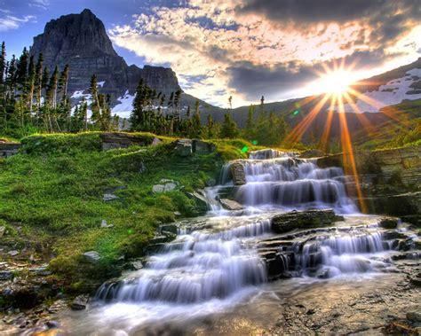 small waterfall cool green hd    cool light