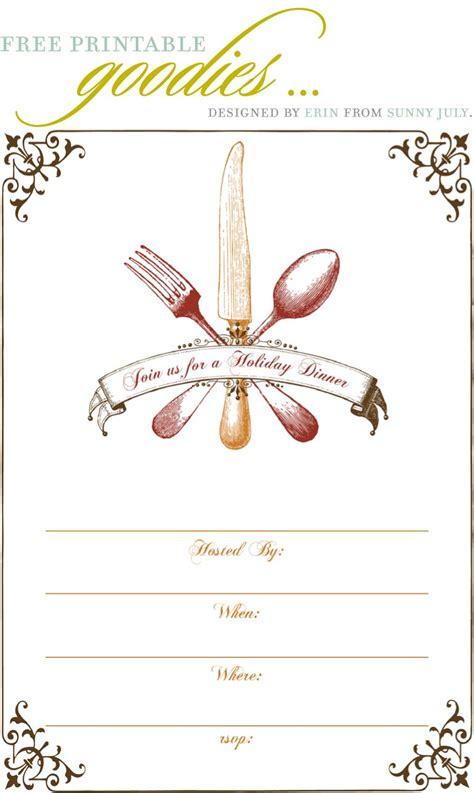 printable thanksgiving dinner invite gobble gobble