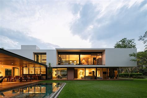 Casa Surrounded By Nature by Casa Gp Modern Home In Guadalajara Jalisco Mexico Curb