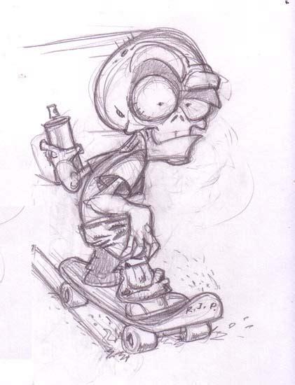 Dibujo Graffitis A Lapiz