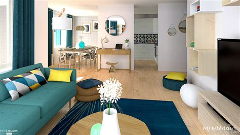 bar de cuisine moderne appartement scandinave contemporain mj intérieurs côté maison
