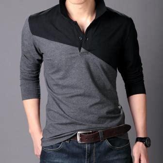 desain baju kaos pria lengan panjang elegan terbaru