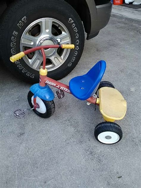 blue red  black radio flyer tricycle  sale