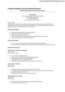 college graduate resume format resume bullet points exles resume sles