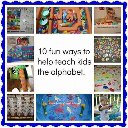 Alphabet Fun Learning Ways Teach Activities Easy