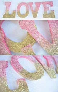 best 25 paint wooden letters ideas on pinterest painted With glitter wooden letters