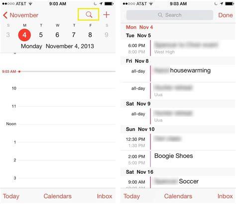 list view   ios  calendar app ios tips