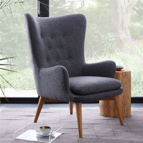 niels upholstered wing chair west elm