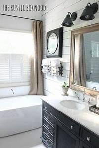 Farmhouse Style Bathrooms on Pinterest Farmhouse Style