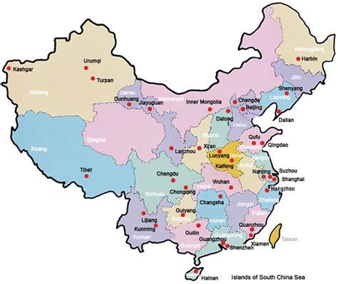 printable china map map  china